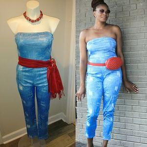 Pants - Blue jumpsuit only